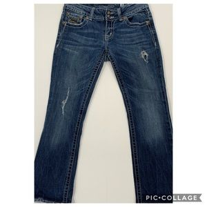 """Miss Me 27 Boot hemmed to 27"""" inseam jeans"""